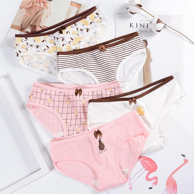 Summer women's panties cotton briefs print girls underwear ladies breathable panty female underpants women pants