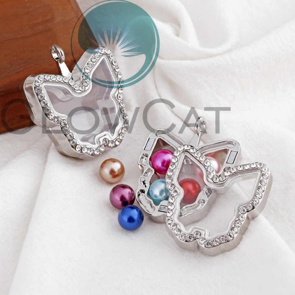 Магнитное стеклянное с крылышками подвеска, медальон кристалл памяти кулоны для фотографии 35 стилей на выбор