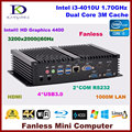 Micro desktop PC Core i3 4010U/5005U i3/i5 4200U dual core Intel HD Graphics HDMI 2 * COM rs232 VGA Industrial PC