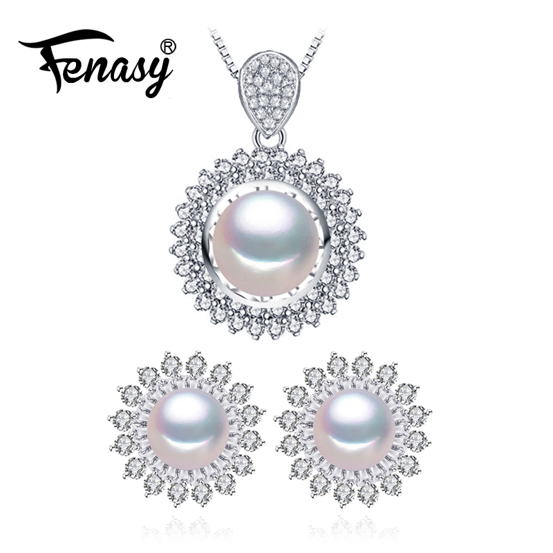FENASY Pearl Jewelry big size wedding engagement jewelry sets Natural Pearl pendant 925 sterling silver Necklace for womenFENASY Pearl Jewelry big size wedding engagement jewelry sets Natural Pearl pendant 925 sterling silver Necklace for women