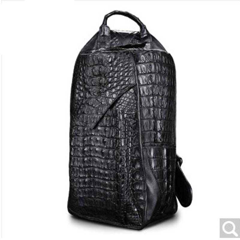 Beijue Crocodile leather men's chest bag leather men bag fashion multifunctional single shoulder bag black beijue boa leather single shoulder women handbag chain bag single shoulder bag black python skin