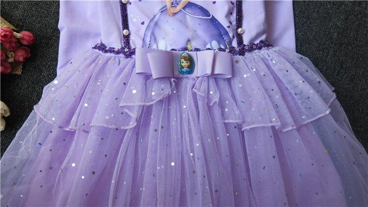 Sukienka dla dzieci Anna i Elsa & Sophia & Snow White Dziewczynka - Ubrania dziecięce - Zdjęcie 5
