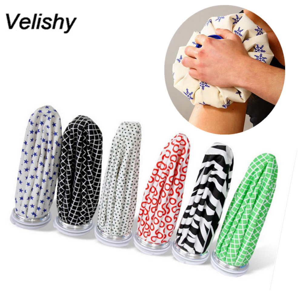 Velishy HOT Sale Multi Colors Reusable Knee Head Leg Muscle Injury Relief Pain Ice Bag Cap Health Care цена