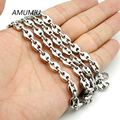 AMUMIU 316l Stainless Steel Mens Necklace 6mm Bead Link Chain Jewelry 2017 Man Woman HZN111
