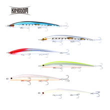 Kingdom 120m  14.5G /143mm21g minnow fishing lure wobbler hard bait fishing tackle VMC hook five colors available model 5333
