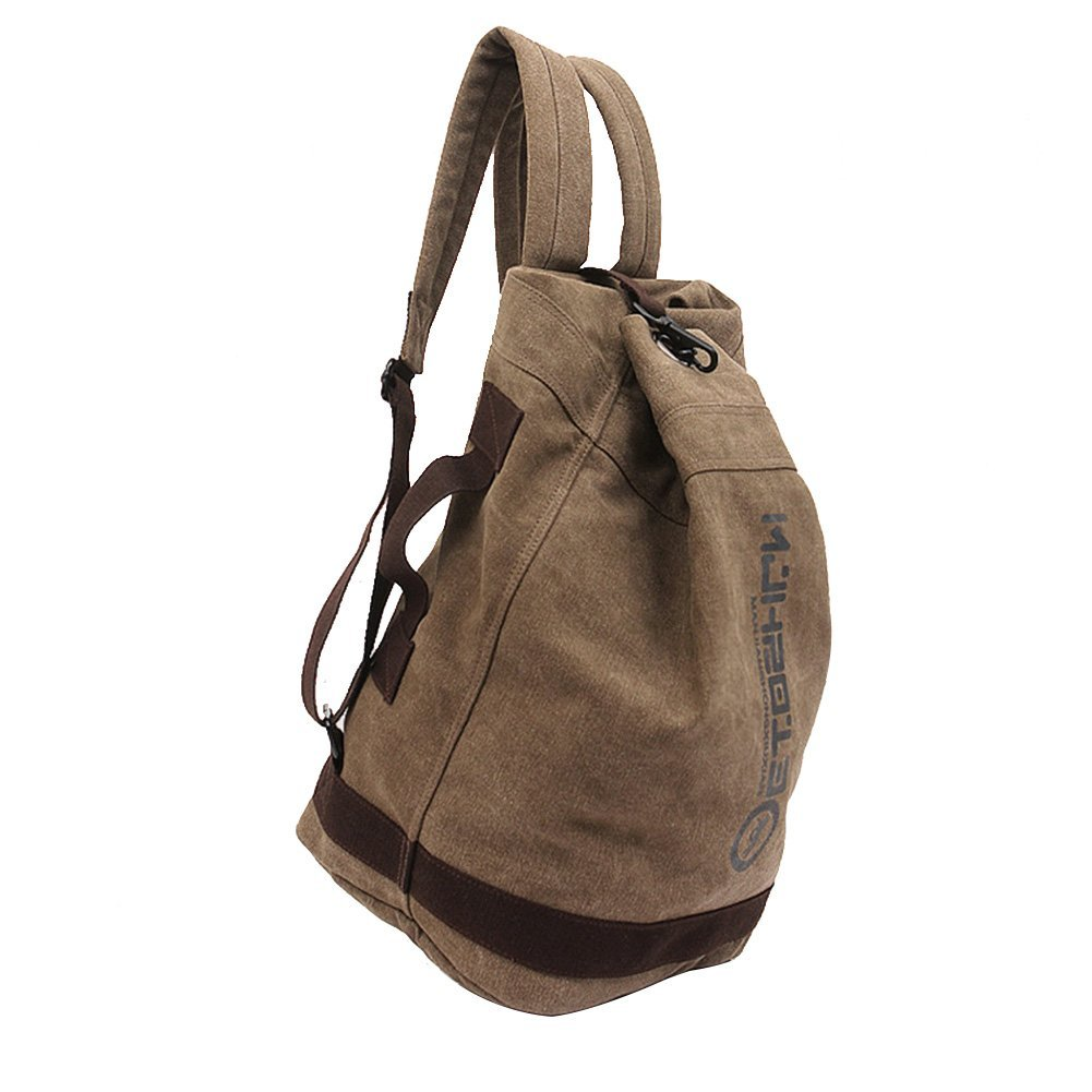 New Manjianghong Backpack Man and Woman Backpacks leather canvas shoulder bag women Backpack