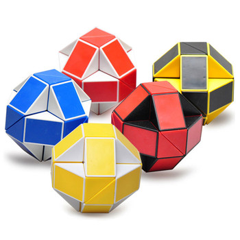 24 Blocks Ruler Magic Cube Puzzle  Magic Ruler Cube Snake Twist Puzzle Educational Toy for Children 6 Youth Adult Boy Girl 1sets magic turtle rabbit sketchpad ruler educational drawing board variety puzzle million flowers multifunctional ruler
