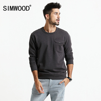 SIMWOOD 2018 Spring New Hoodies Men Vintage Casual Sweatshirts Slim Fit Streetwear Plus Size Long Sleeve