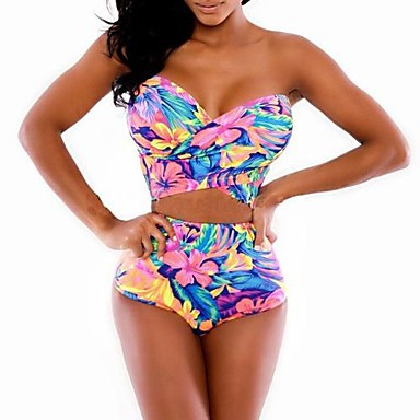 Women's Sexy And Colorful Print Beautiful Swimsuit