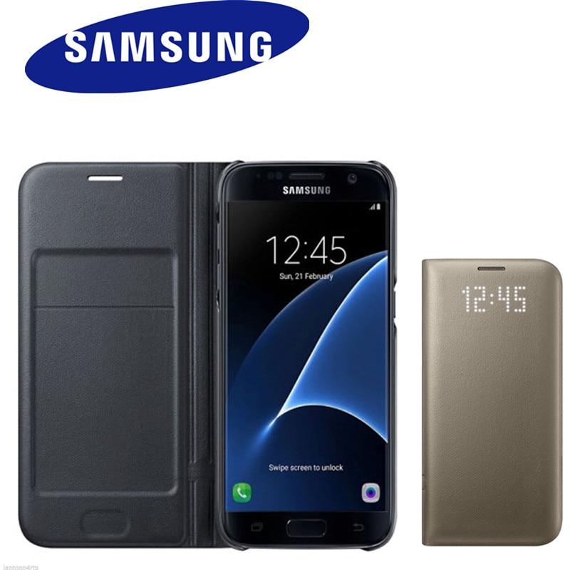 Samsung D'origine LED Vue Couverture Intelligente Téléphone étui pour Samsung S8 s8 + Avec Fonction Sommeil 6 couleurs