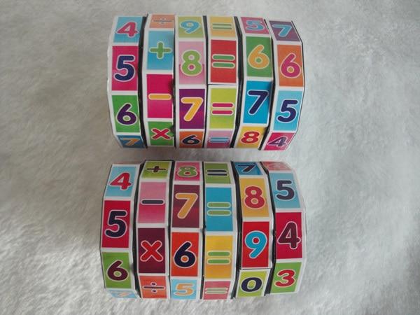 Fashion Mathematics Numbers Magic Cube Toy Puzzle Game Children Kids Math Education And Joy