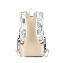 3pcs/set Cats Printing Backpacks Polyester School Bags