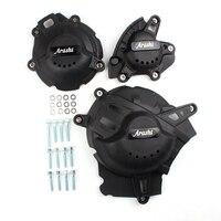 Двигатель статора Картера аварии Pad Slider протектор Крышка для Suzuki GSXR1000R 2017 2018 черный