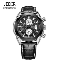 Mens Watches Top Luxury Brand JEDIR Fashion Auto Date Watch Geniune Leather Strap Male Watch
