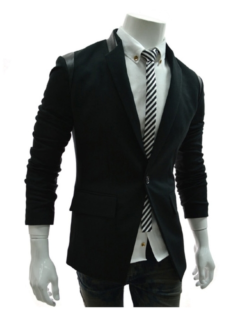 Мужская Мода ПУ борьба кожи маленький пиджак высокое качество мужской костюм Европейский и Американский стиль костюмы куртка пальто