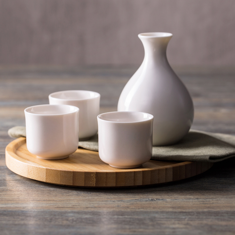 Japan Style Solid Ceramic Home Hip Flasks Cups
