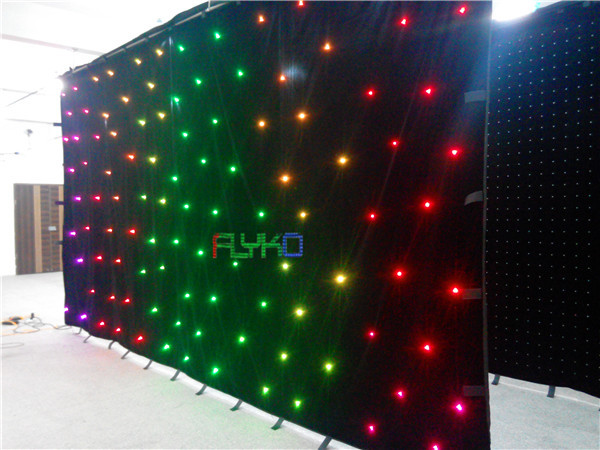 цена на Free shipping led dance floor led star curtain 3x6m free shipping