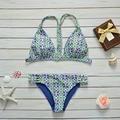 Women Floral Printed Padded Beachwear Bikini 2PCS Swimsuits Bikini Set