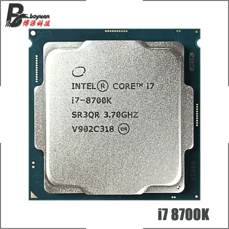 Intel CPU Processor Lga 1151 I7-8700k Ghz 12M 95W Twelve-Thread