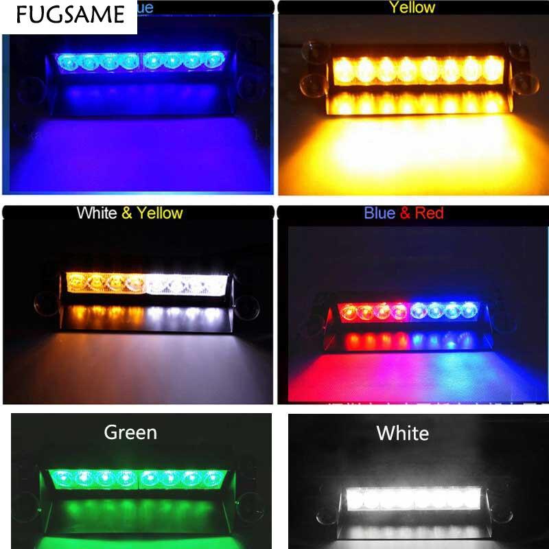 FUGSAME Car 8 LED Strobe vaku figyelmeztetés EMS rendőrség - Autó világítás - Fénykép 5