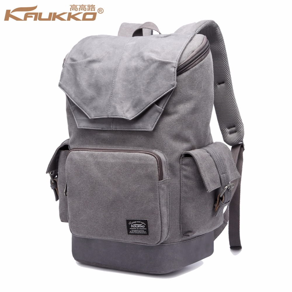New Arrival Vintage Canvas Backpack Women and Men With Latest Fashion Design Military Backpack Kaukko Bag Backpack kaukko fp84