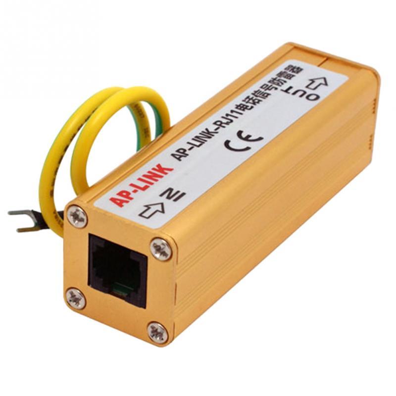 цена на RJ11 Thunder Arrester Telephone Fax Surge Protector Lightning Signal Protection RJ11 Surge Protection SPD~