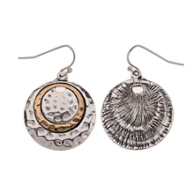 DOUVEI Silver Golden Round Earrings Ethnic Bohemian Dangle Earrings Jewelry Female Mental Nepal India Earrings Party HQE337