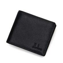 Die Neue 2016 Fashion Echtes Leder Plaid Geldbeutel Männlich Bag Marke Männer Geldbörsen Handtasche Geldbörse Raum ist Groß Genug A243