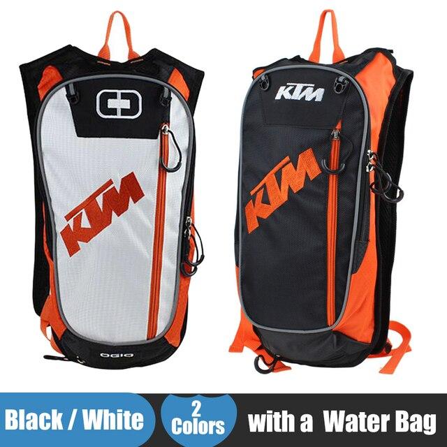 New KTM Motorcycle Bag Motocross Offroad Racing Backpack with TPU Water Bag Bike Bicycle Sport Luguage Pack