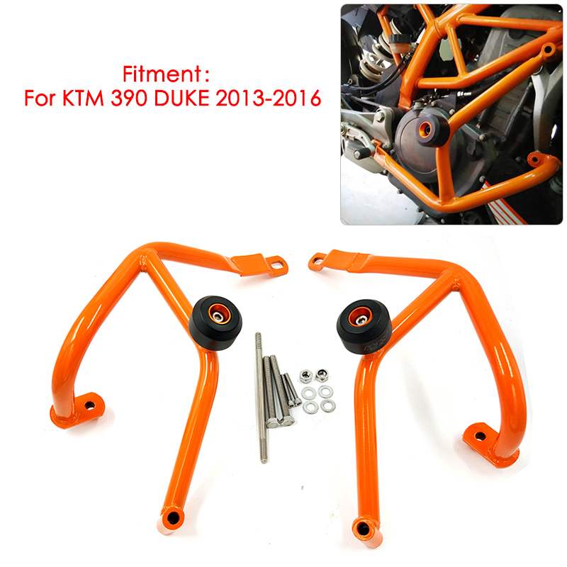 For KTM 390 DUKE 390 2013 2014 2015 2016 Motorcycle Engine Bumper Guard Crash Bars Frame Protector Orange Brand New motorcycle engine guard crash bars frame protector bumper for ktm 125 200 duke 2011 2012 2013 2014 2015 new