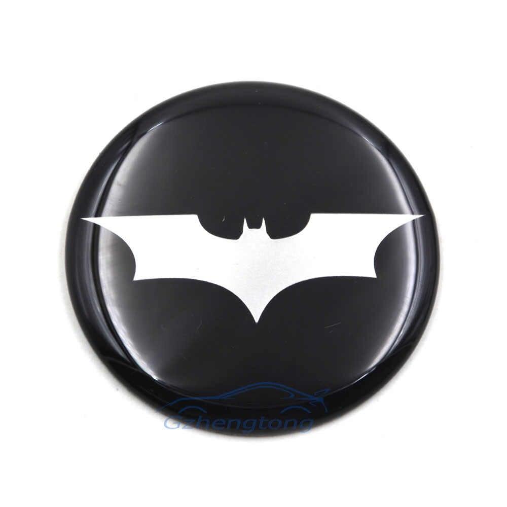 4 x 50mm Alloy Wheel stickers Batman Yellow /& Black center badge cap hub