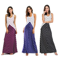 Women S Dresses Summer High Quality Sexy Maxi Long Dress Sleeveless Strap O Neck Package Hip