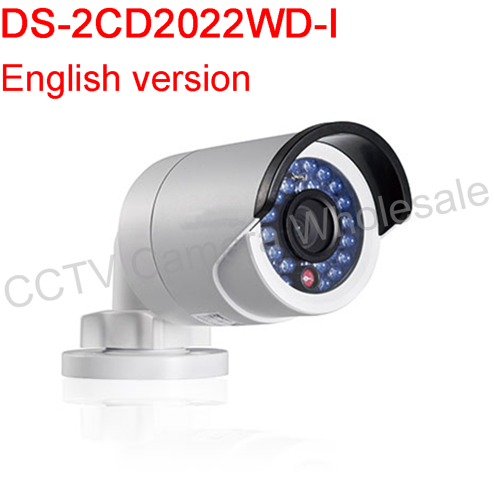 Free shipping English version DS-2CD2022WD-I 2MP IR Bullet Network Camera Support H.264+ PoE IP6630m IR