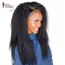 Ever Beauty Kinky Straight Brazilian Hair Weave Bundles Non-remy Human Hair Natural Black 10-26inch 1PCS