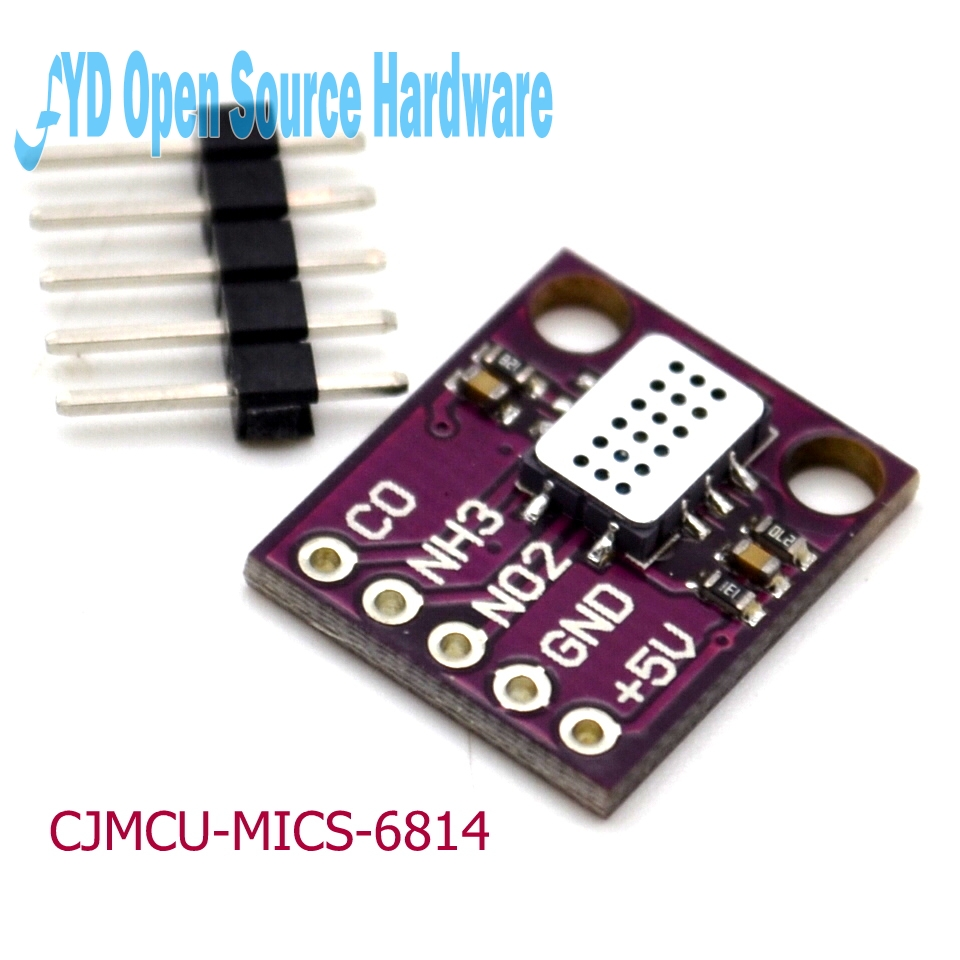 CJMCU-MICS-6814 NH3 Nitrogênio Oxigênio Sensor de Gás VOC Qualidade do Ar CO