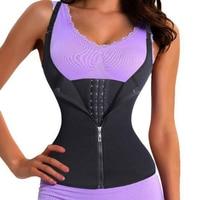 Yumdo Slimming Body Shaper Neoprene Sauna Waist Trainer Hot Sweat Waist Trimmer Cincher Vest Zip Clip Weight Loss Shapers 6 Bone