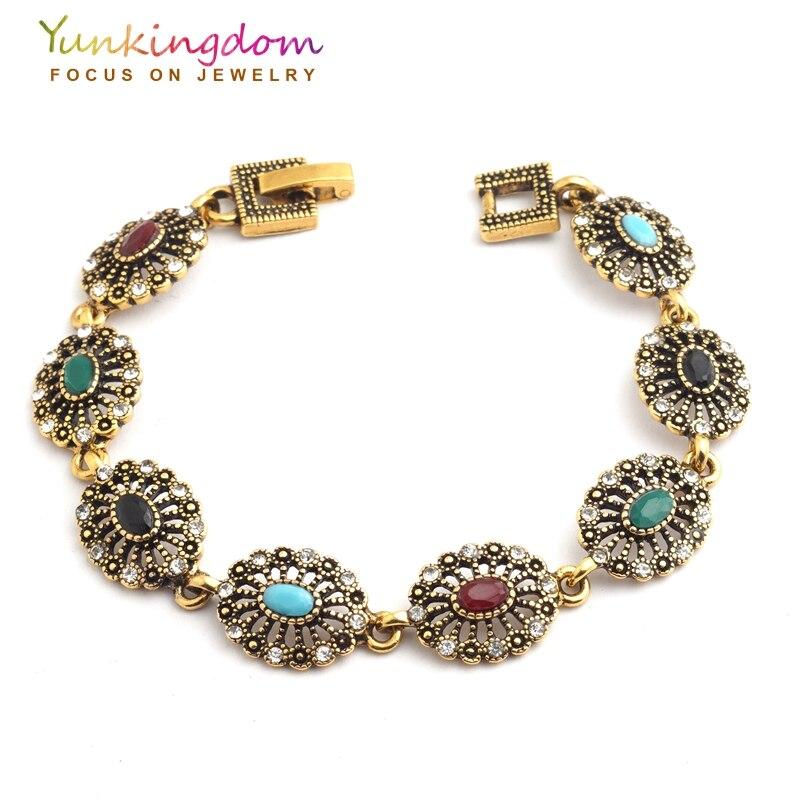 Yunkingdom Unique Style Colorful Jewelry Gold Color