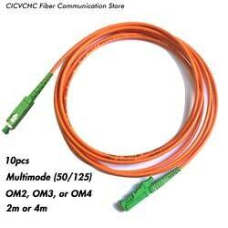 10 шт. LSH (E2000)/APC-SC/APC-мм (50/125) OM2, OM3, OM4-2m, 4 м-3,0 мм кабель/перемычка