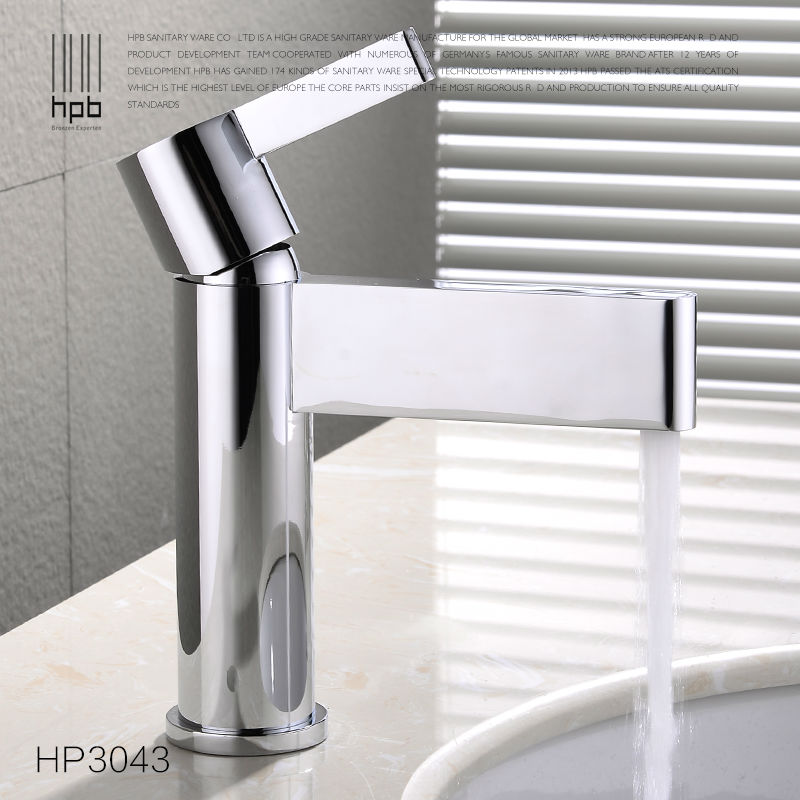 цены  HPB Brass Basin Faucet Hot and Cold Water Single handle Single hole torneira do banheiro Sink Bathroom Tap Mixer HP3043