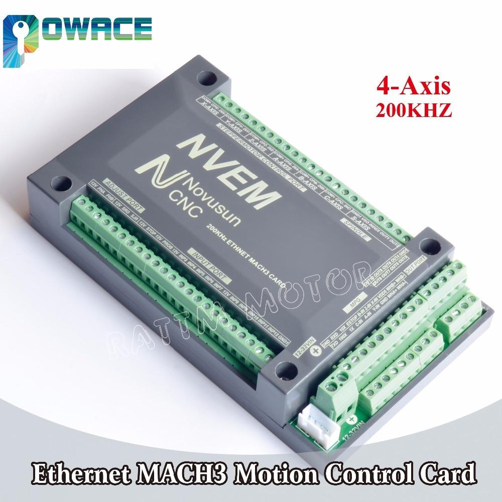 【EU】 3 Axis 200KHz NVUM Mach3 USB Motion Controller Card CNC Motor Driver 12-32V