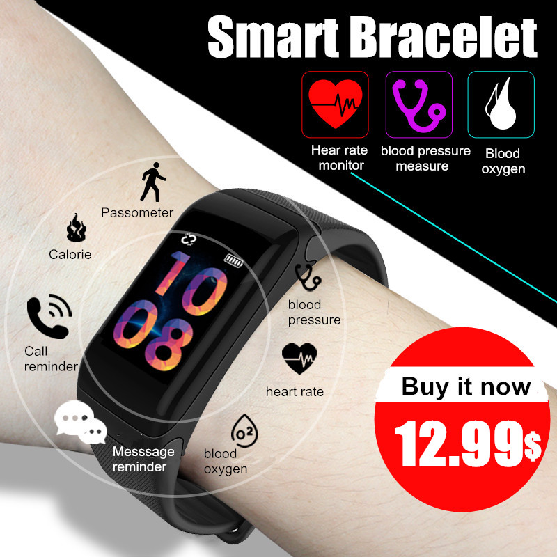 Fitness Tracker Pedometer LERBYEE Waterproof Watch Bluetooth Activity Tracker Sports Bracelet Smart Band Wristband PK mi band 2 цена