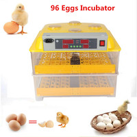 Large Capacity 96 Eggs Poultry Incubator Chicken Duck Brooder Machine With Digital Display Temperature Control Equipment