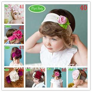Free Shipping + 2013 Promotional ! 13pcs/lot Top Baby Baby Girl Hair Band Infant Toddler Flower Baby Headband Baby Headwear