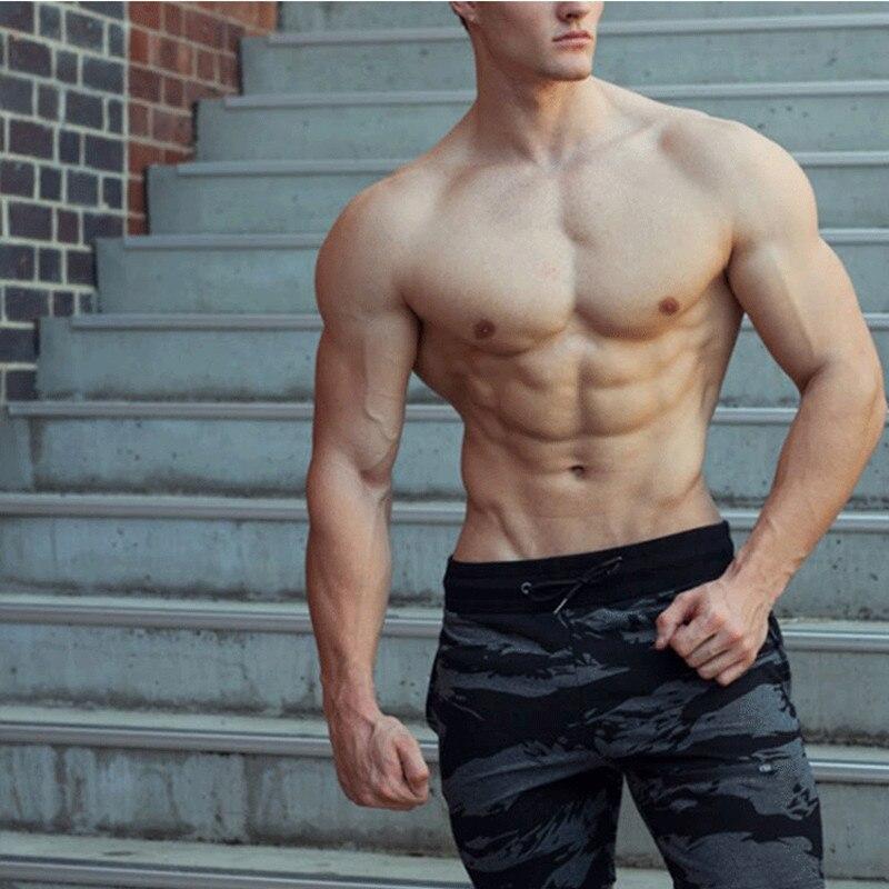 Men Gyms Fitness Bodybuilding Cotton Shorts 2018 New Casual Fashion Camo Short Pants Male Jogger Workout Sweatpants Wholesale