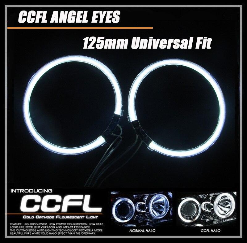 ФОТО 4rings full circle 126mm angel eyes universal car headlight for Focus/Terria for VW CCFL angel eye headlamp 12v with 7 colors