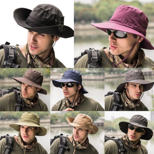 Boonie Bucket Hat Cap 2018 New Brand Fishing Hunting Brim Safari Summer Men Sun Hat Fisherman Hat