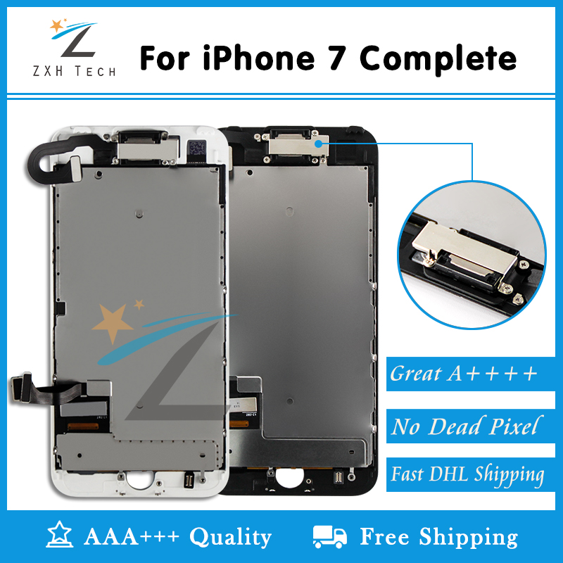 5PCS LOT Grade AAA for iPhone 7 LCD Display Complete Screen Replacement Full Assembly with Small