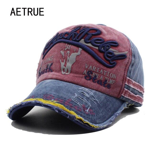 AETRUE Brand Men Baseball Caps Dad Casquette Women Snapback Caps Bone Hats For Men Fashion Vintage Hat Gorras Letter Cotton Cap 1