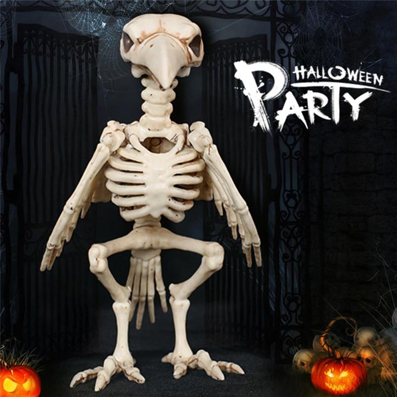 Loco de Halloween esqueleto óseo Cuervo plástico esqueleto Animal ...