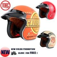 จัดส่งฟรีTORC moto c asco capacete 3/4
